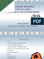 Welders Traininng for Welding Foremen and Supervisors - Rev. 0