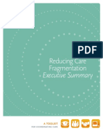 Executive Summary Reducing Care Fragmentation