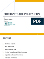 Foreign Trade Policy Ftp by Mr Sudhakar Kasture
