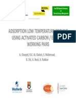 Absorption Low Temperature Cooling Using Activated Carbon-ethanol Working Pairs Elsayed