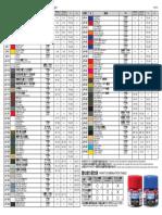 Tamiya Color Matching List