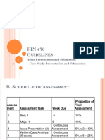 FIN 470 - Guidelines for Issue Presentation and Case Study Presentation