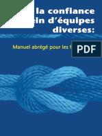 Batir La Confiance Au Sein Dequipes Diverses Manuel Abrege Pour Les Formateurs