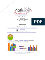 Dividing Complex Numbers Worksheet