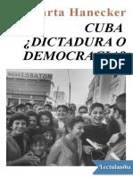 Cuba Dictadura o democracia - Marta Harnecker.epub