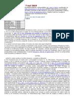 DECIZIA Nr. 287 Din 7 Mai 2019 Referitoare La Excepţia de Neconstituţionalitate a Dispoziţiilor Art 1 Alin1 Şi Alin2, Coroborate Cu Alin5 Ind1 Din Ordonanţa de Urgenţă a Guvernului Nr. 83 Din 2014 Privind Salarizarea Per