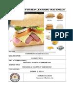 Prepare Variety of Sandwiches
