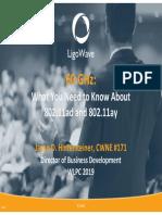 WLPC2019_60-GHz 802.11ad 802.11ay Overview_Jason-Hintersteiner
