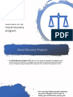 Moral Recovery Program