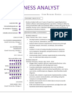 Business Analyst  Sample