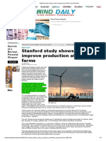 Stanford Study Shows How to Improve Production at Wind Farms