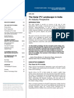 The Solar PV Landscape in India