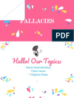 Report on Fallacy