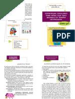 Estrategias Escolares Para Niños Con Tdah Basados en Terapia Ocupacional