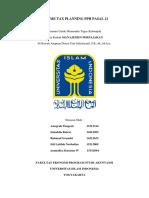 Resume Tax Planning Pph Pasal 21