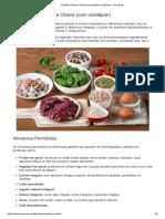 alimentos permitidos e proibidos para quem tem ulcera e gastrite