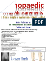 Ortho Xray Measurments