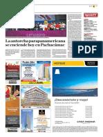 La Antorcha Parapanamericana Se Enciende Hoy en Pachacámac