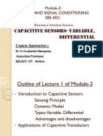FALLSEM2019-20 EEE4021 ETH VL2019201001943 Reference Material I 12-Aug-2019 Module 3 Lecture 1 Capacitive Sensors 10
