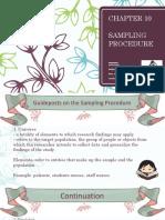 Sampling Procedure