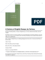 A Century of English Essays