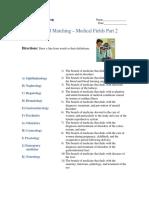 Advanced Matching - Medical Fields Part 2