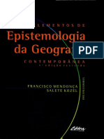 Livro Epistomologia Da Geografia - Francisco Mendença e Salete Kozel Comp-2