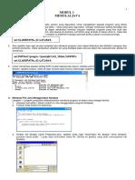 Modul 1 Langkah Awal Membuat Program Java