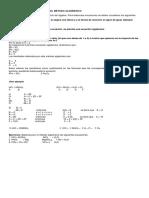 Balanceo de Ecuaciones Por El Método Algebraico