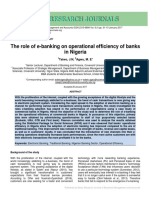 56 the Role of E-Banking on Operational Efficiency of Banks in Nigeria