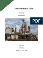 Ethanol From Sugarcane Mills Process