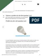 Potência de Lâmpadas Led - Um Esclarecimento - Demabi Materiais