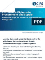 L4 Diploma in Procurement and Supply