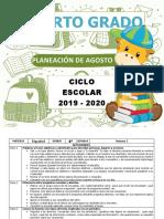 Planeación Agosto - 4to (2019-2020)