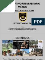 DISTINTIVOS EJERCITO MEXICANO