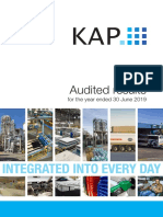 KAP Audited Results for Year Ended 30 June 2019