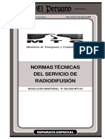normas de servicio radiodifusion