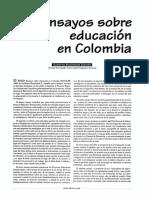 ENSAYOS SOBRE EDUCACIÓN EN COLOMBIA