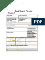 Plantilla de Plan de Unidad (1) Propuesta Para Trabajar