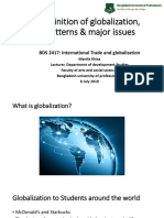 1 Definition of Globalization, Patterns & Major Issues