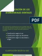 Clasificación de Los Biomateriales Dentales