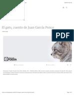 El gato, cuento de Juan García Ponce – Círculo de Poesía