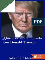 ¿Qué le espera al mundo con Donald Trump