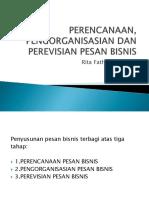 Perencanaan, Pengorganisasian Dan Perevisian Pesan Bisnis