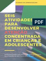 Seis Atividades para Desenvolver Atenção Concentrada em Crianças e Adolescentes - @giselewandermur