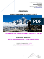 F. T.trekking Cordillera Blanca Peru 2018