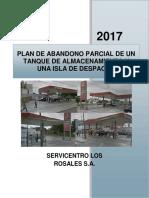 plan de abandono parcial de un tanque de almacenamiento de una isla de despacho