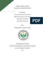 Critical Journal Report Sbm