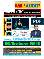 CA Final Audit Sample MCQs by ICAI
