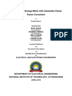 Smart energy meter and power factor correction